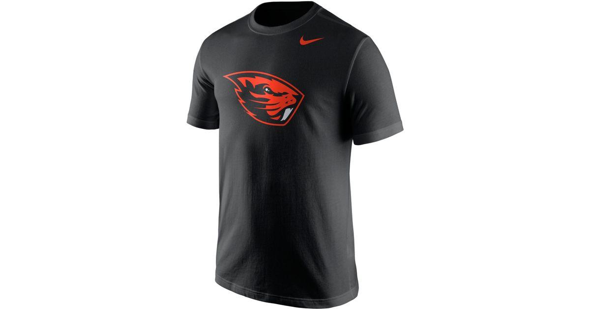 Nike Men S Oregon State Beavers Logo T Shirt In Black For