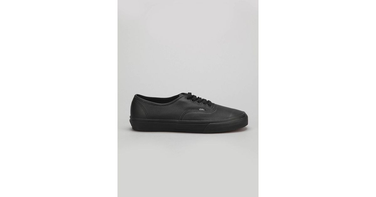 ce5df2bfee Lyst - Vans Authentic Italian Leather Monochromatic Sneaker in Black for Men
