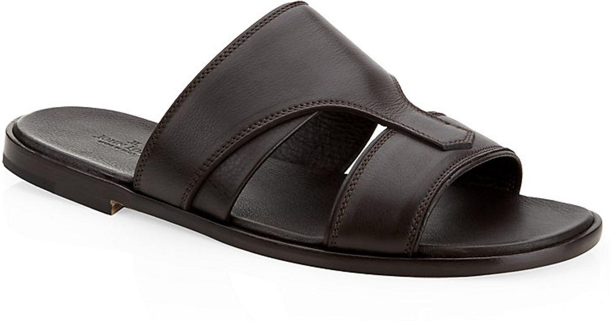 John Lobb Men Black Riva Sandal For rCWdQxBoe