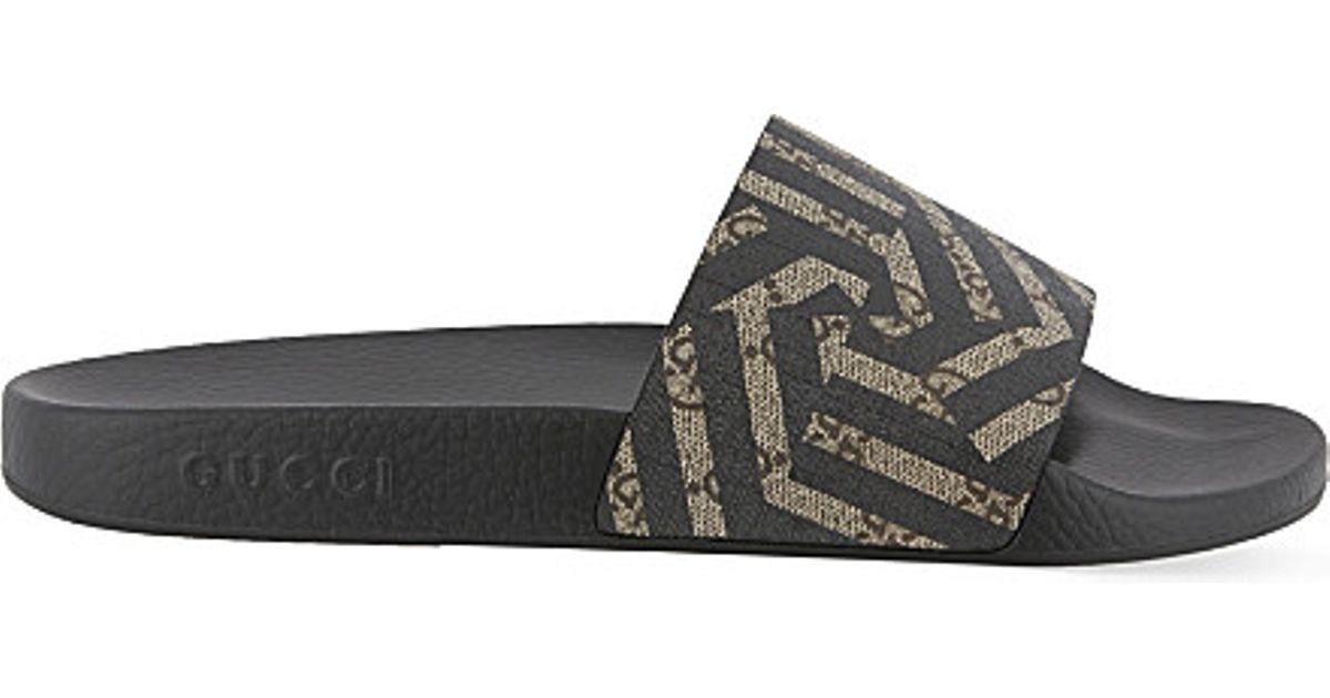 8eda8ecc5d1969 Gucci Pursuit Geo Slider Flip-flops in Brown for Men - Lyst