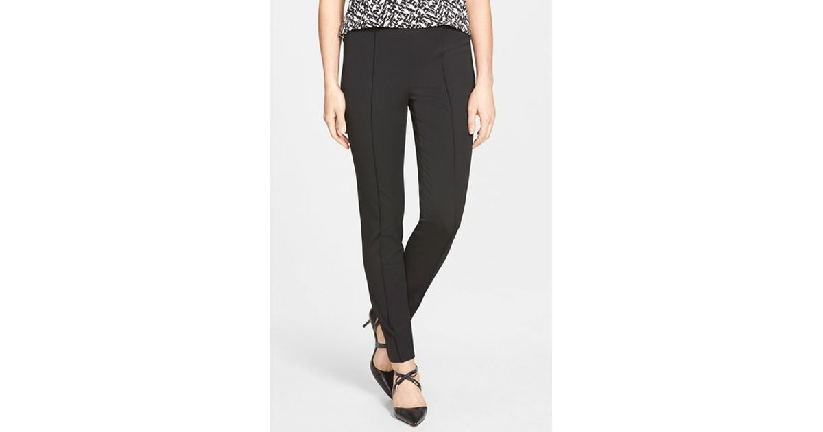 Vince Camuto Side Zip Stretch Twill Pants In Black Lyst
