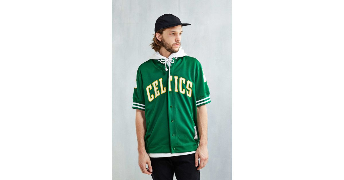 on sale 86efa 8fb57 Mitchell & Ness Green Larry Bird Shooting Shirt for men