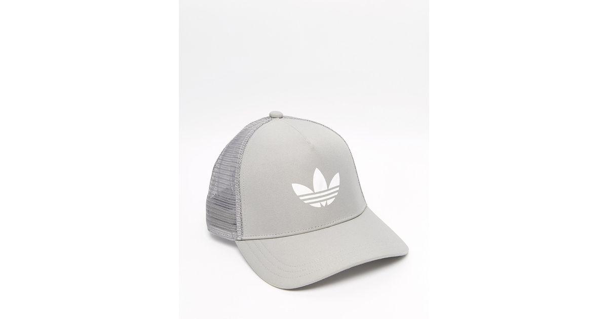 Lyst - adidas Originals Trucker Cap in Gray for Men a68d91886c8