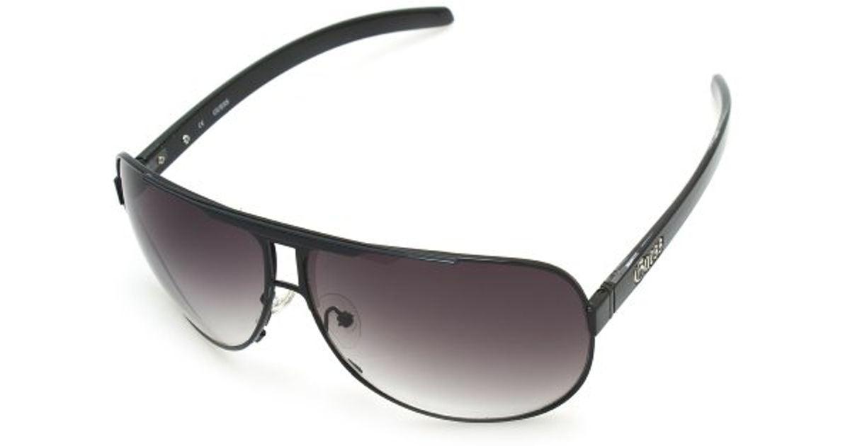 Lyst - Guess Round Frame Men\'s Sunglasses in Black for Men