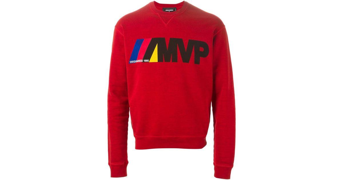 7d9ebc5e780 DSquared² Red Mvp Print Sweatshirt for men
