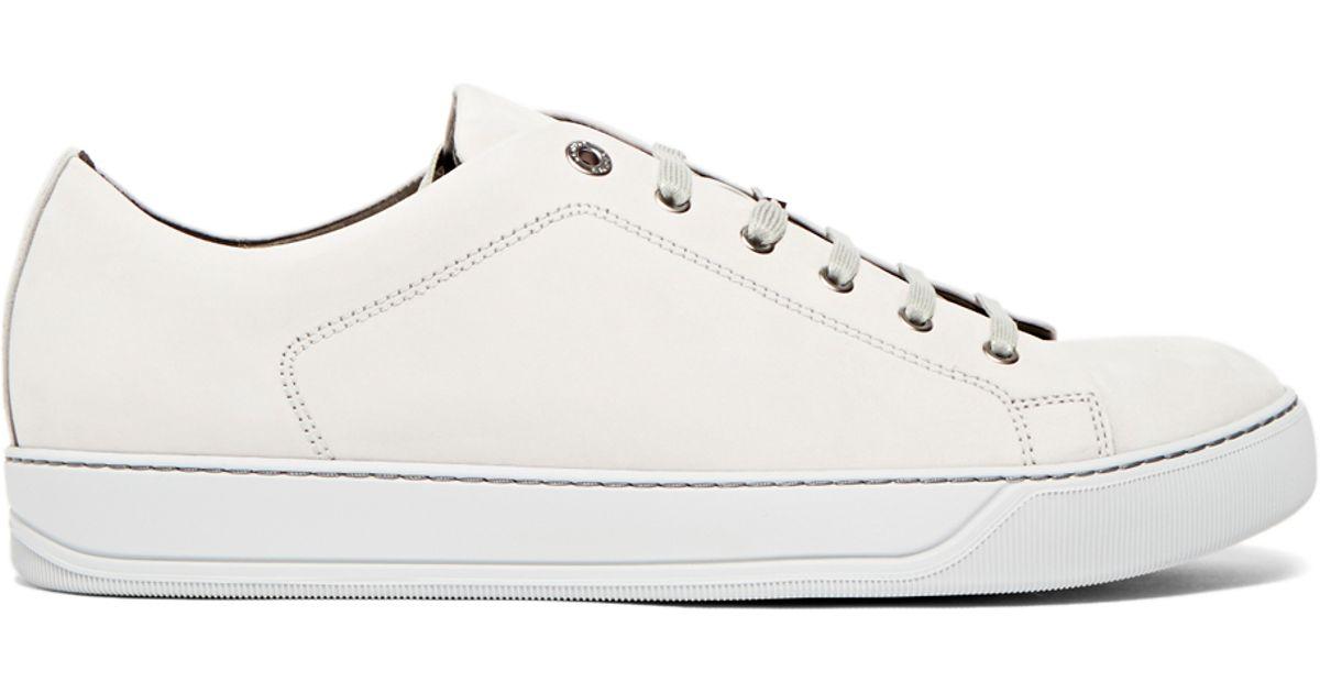 Lanvin Nubuck Leather Low Top Sneakers