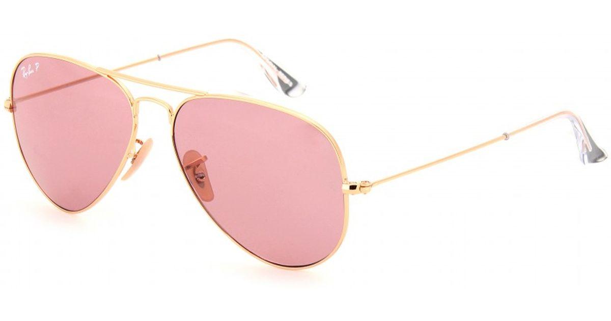 17edbf6dc3c39 Ray-Ban Aviator Large 58 Metal Sunglasses in Metallic - Lyst