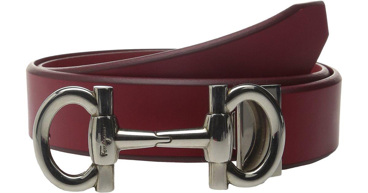 d7e1d749f395 Lyst - Ferragamo Adjustable Belt - 679043 in Red