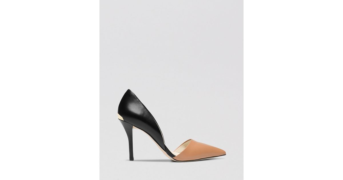 4ab840398880 Lyst - MICHAEL Michael Kors Pointed Toe D Orsay Pumps - Julieta High Heel  in Black