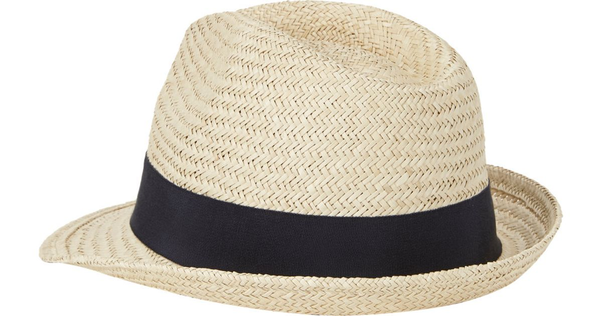 dea0869765b8a Lyst - Hat Attack Shortbrim Panama Fedora in Black