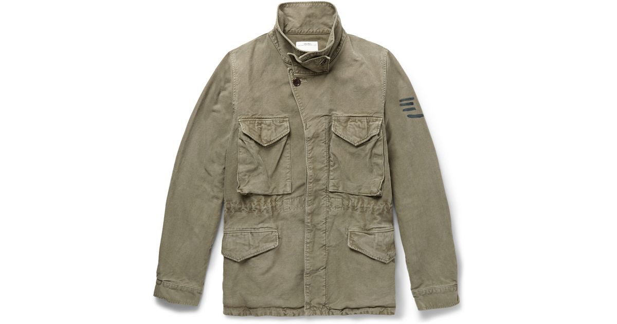 70e36d754 Visvim Green Achse Cotton Field Jacket for men