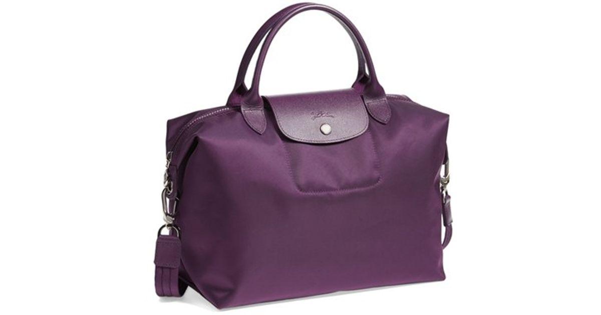47e2b5034cc99 Lyst - Longchamp  le Pliage Neo - Medium  Tote - Purple in Purple