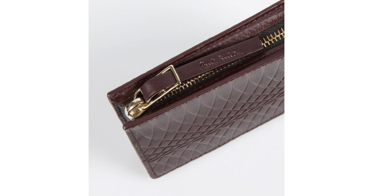 e6a2f9398439 Paul Smith No.9 Damson Leather Wallet Pouch in Purple for Men - Lyst