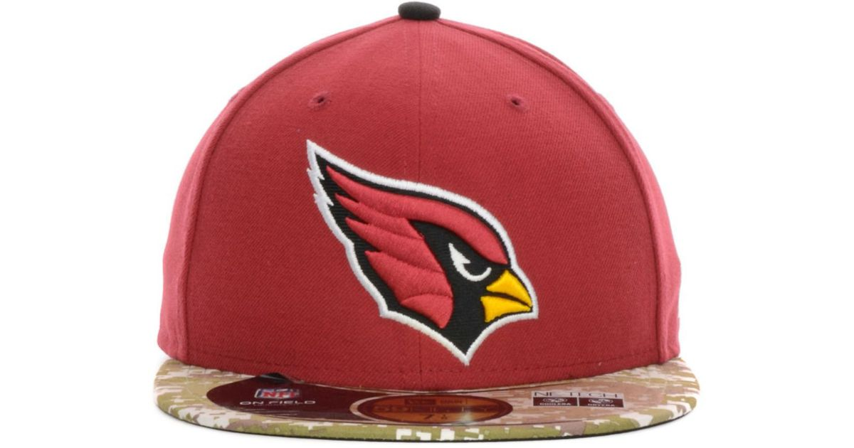 new concept 6a81f a61c8 ... fitted hat cardinal 60c59 92841  free shipping lyst ktz arizona  cardinals salute to service on field 59fifty cap in red for