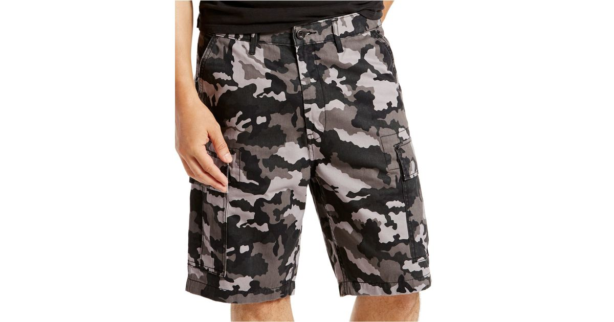 Levi S 174 Men S Carrier Loose Fit Camouflage Cargo Shorts