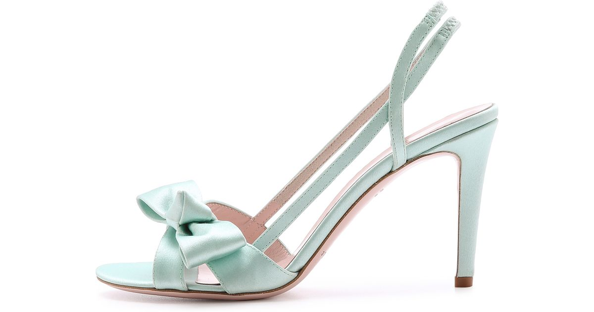 76d512fa156f Lyst - Kate Spade Ideal Bow Sandals in Blue