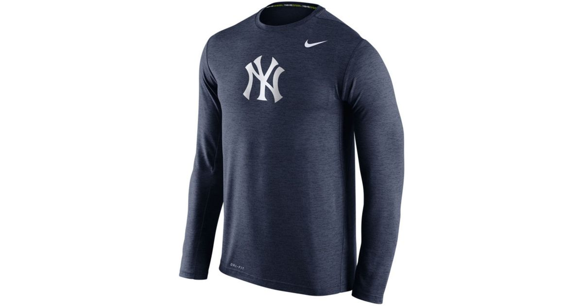 Lyst - Nike Men s Long-sleeve New York Yankees Dri-fit Touch T-shirt in  Blue for Men 4b48a871415