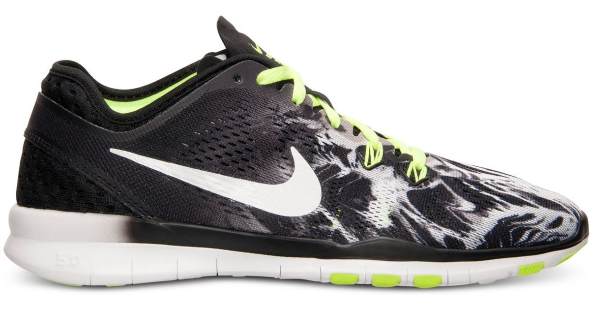 sneakers for cheap d94b1 930f7 ... new style lyst nike womens free 5.0 tr fit 5 print training sneakers  from finish line