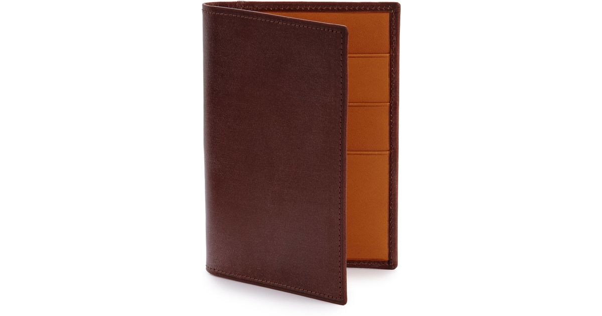 Dunhill Anderson Leather Business Card Case in Brown for