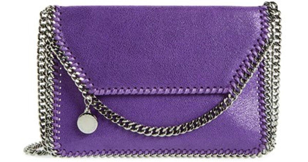 451bee4576 Lyst - Stella McCartney  mini Falabella  Shaggy Deer Crossbody Bag - Purple  in Purple