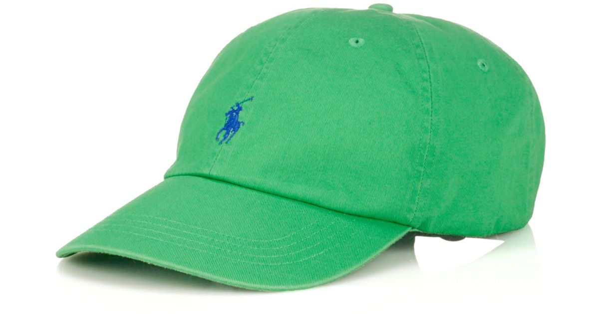 0d3acbdb Ralph Lauren Polo Big and Tall Classic Chino Twill Baseball Cap in Green  for Men - Lyst