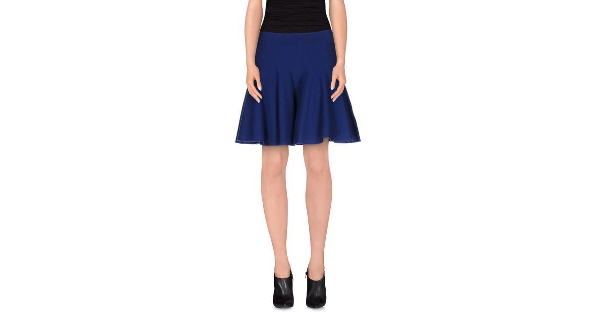 p a r o s h mini skirt in blue bright blue lyst