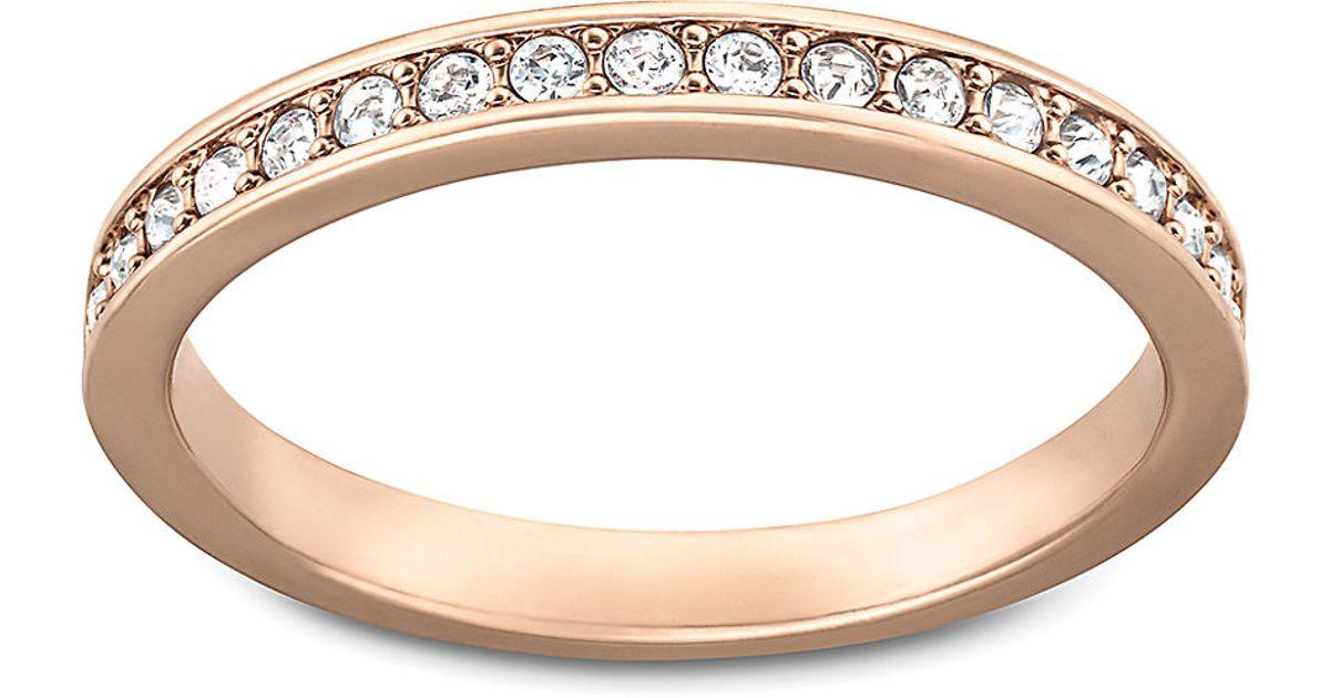 5210c98c9bb21 Swarovski Pink Rose Gold And Crystal Rare Ring