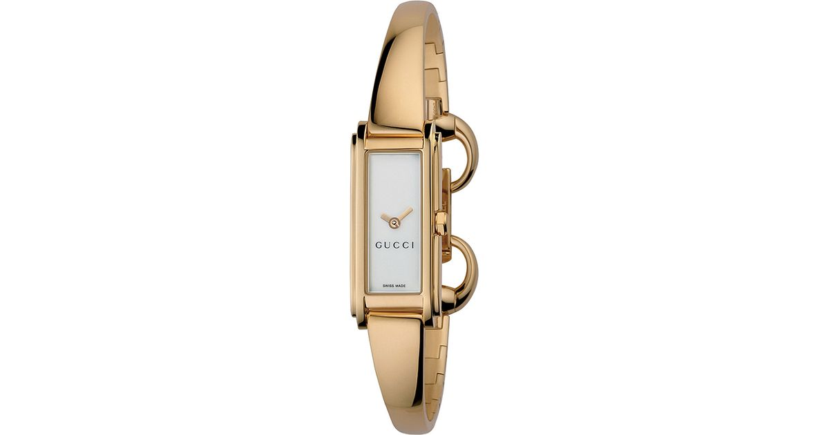 e6964487c Lyst - Gucci Ya109527 Gold Plated Watch in Metallic
