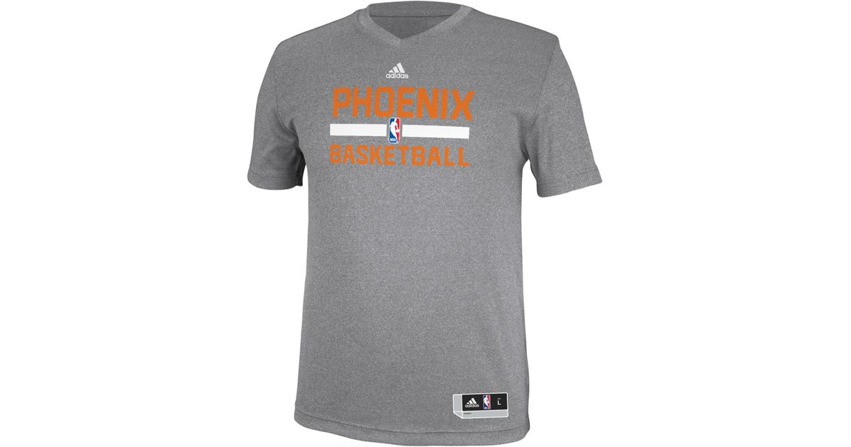 finest selection 9f359 f7aee Adidas Gray Men's Phoenix Suns Practice Graphic T-shirt for men