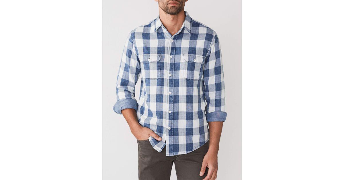 6876fafcab Lyst - Faherty Brand Doublecloth Belmar Shirt in Blue for Men