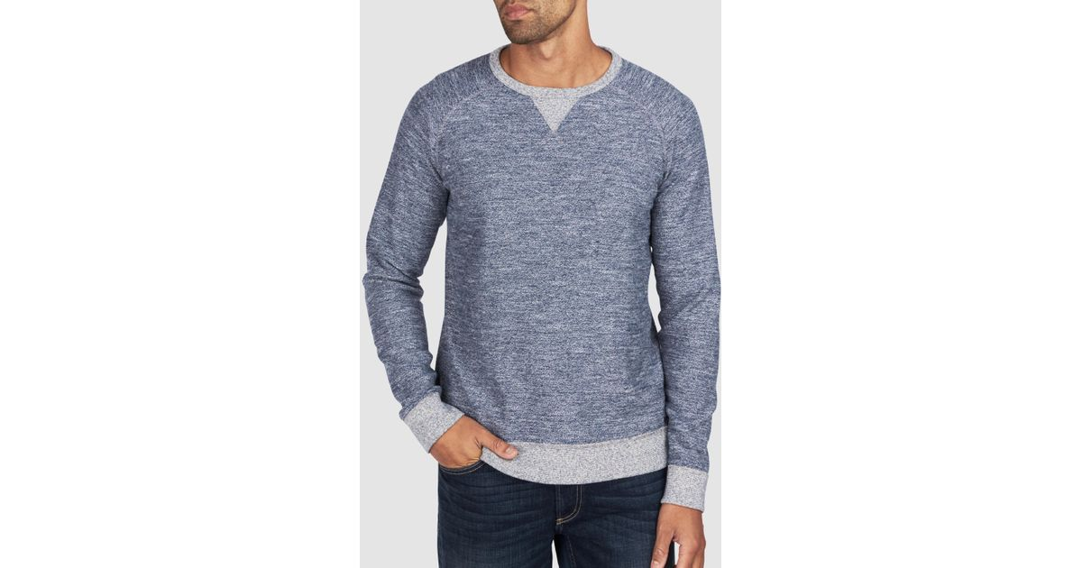 9a88ef4dfa99 Faherty Brand Backloop Jaspe Crew in Blue for Men - Lyst