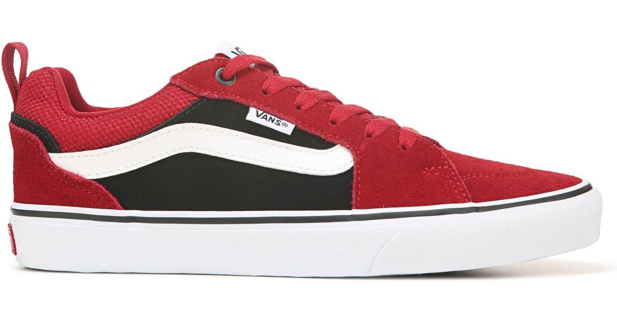 Vans Suede Filmore Skate Shoes in Red