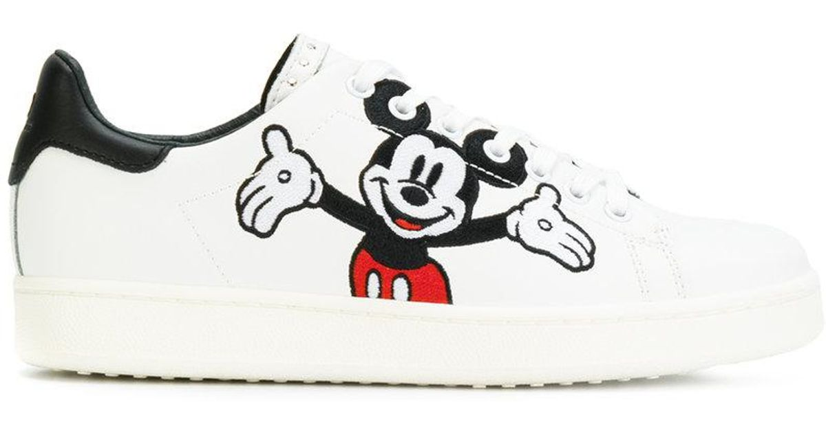 MOA Leather Mickey Mouse Sneakers in