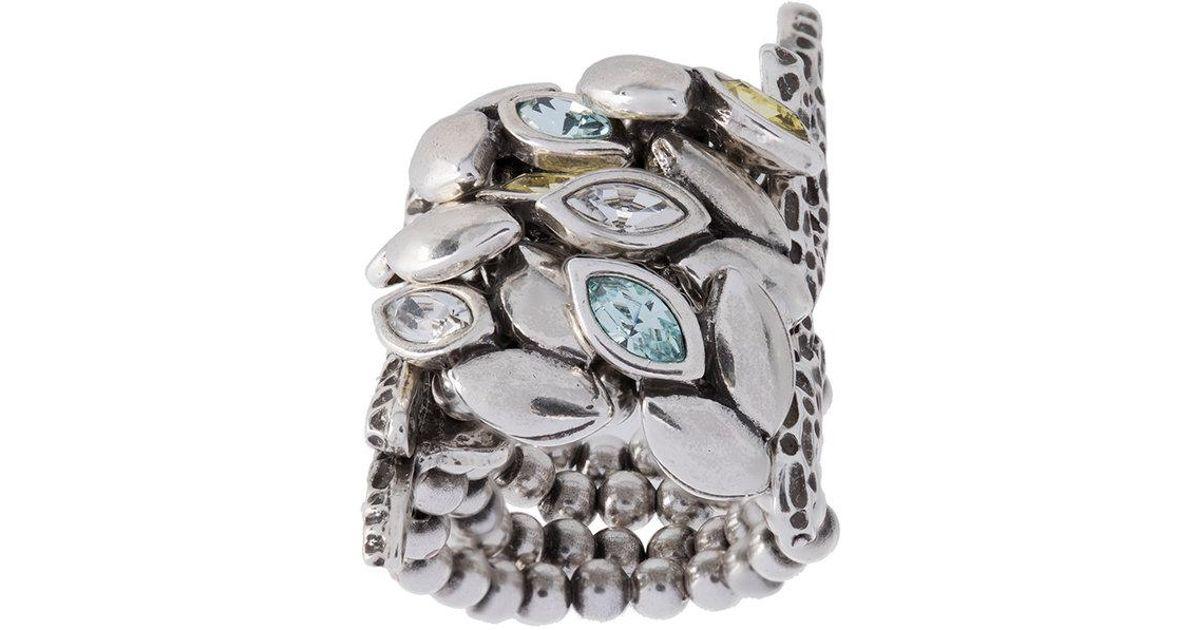 Camila Klein crystal embellished ring - Metallic MxpJmWN