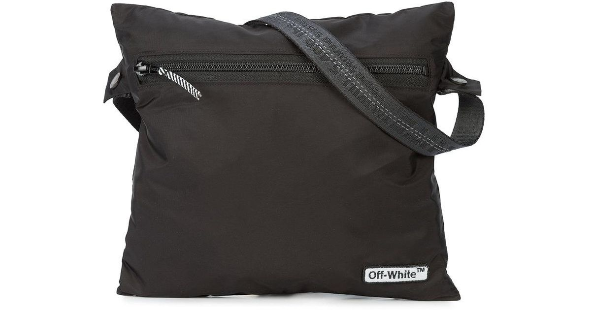 f36fc68ce7ed Off-White C O Virgil Abloh Zipped Logo Shoulder Bag in Black for Men - Lyst