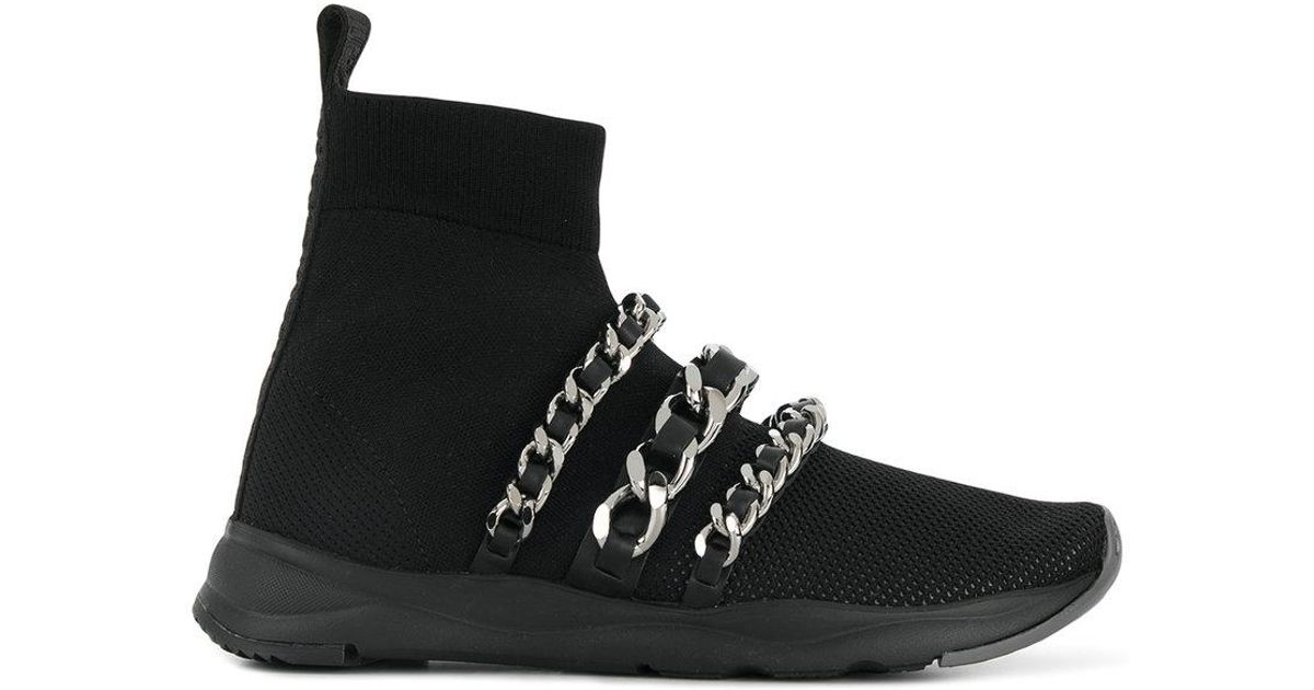 chain sock sneakers - Black Balmain daG3fWx3U