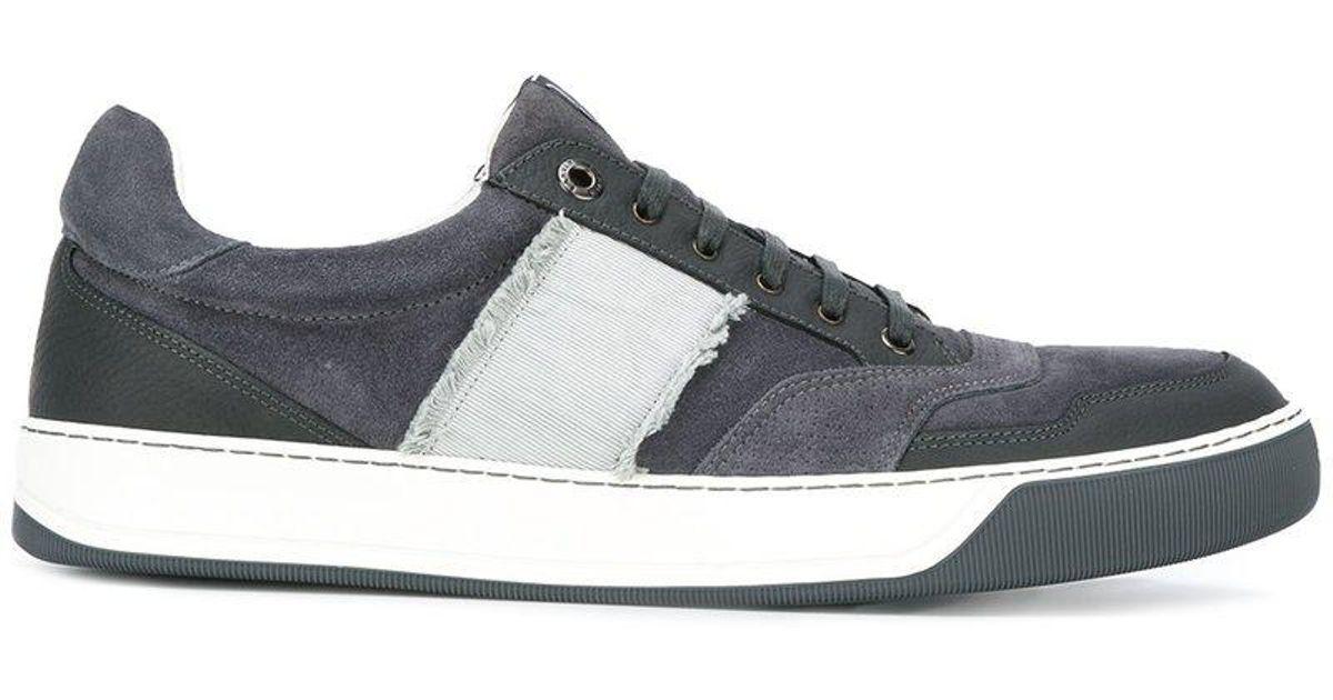 side stripe lace-up sneakers - Blue Lanvin dM3KUT