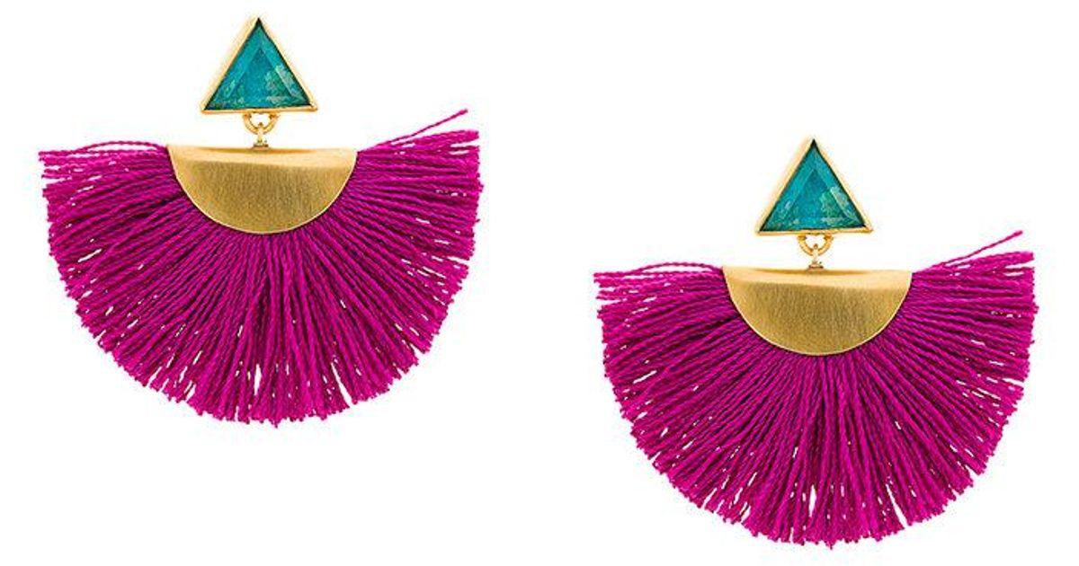 Katerina Makriyianni mini fan earrings - Pink & Purple 9FLXbLqAm