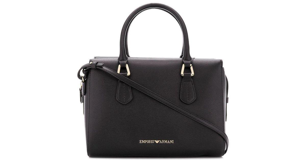 ab1ec30c7e Lyst - Emporio Armani Logo Tote Bag in Black
