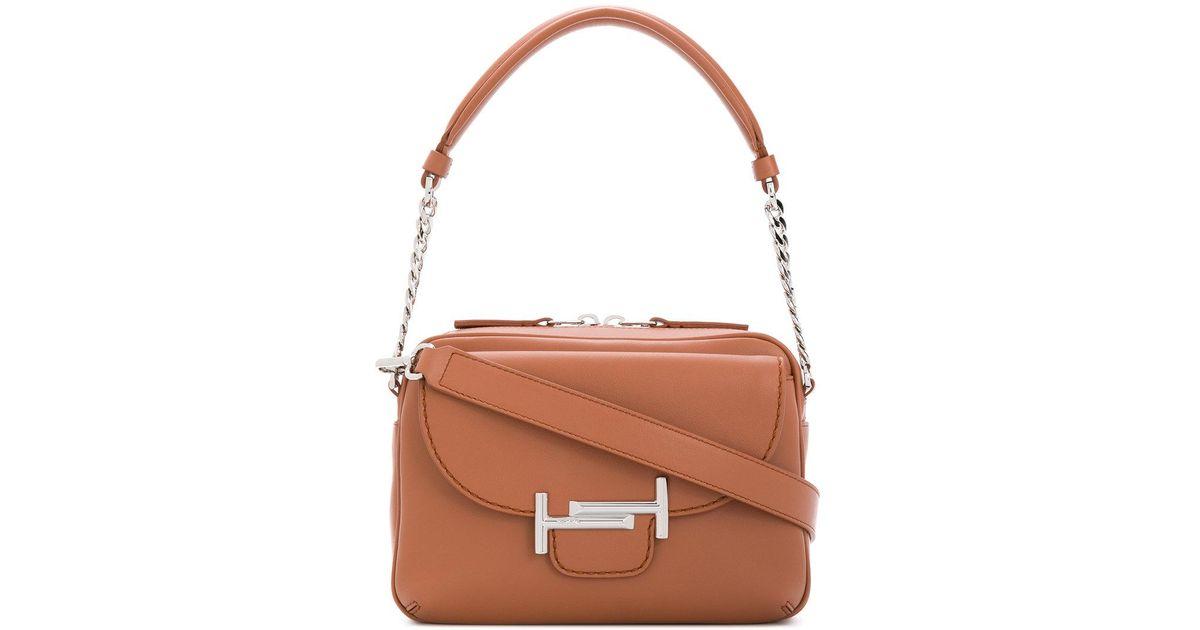 e5e68883f86 Tod's Double T Camera Bag in Brown - Lyst