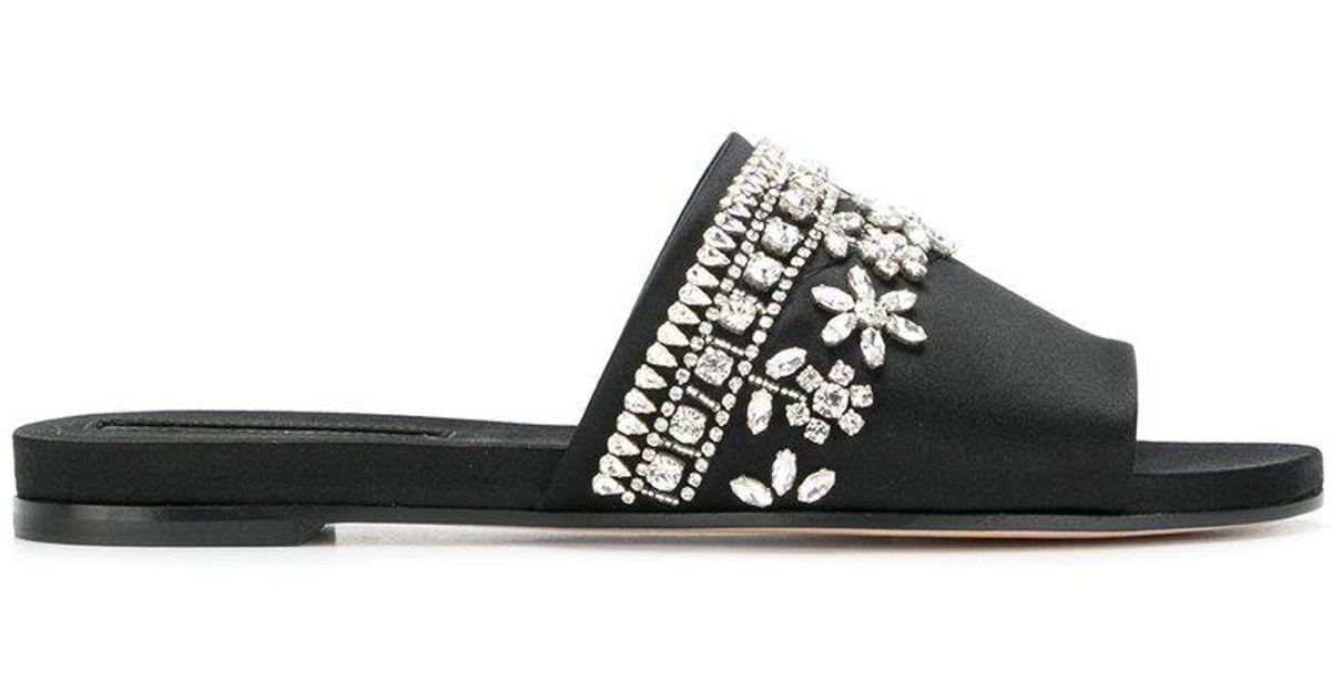 embellished slip-on mules - Black Rochas tDp5RPv56