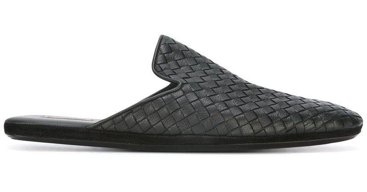 456a06f88eb1 Bottega Veneta - Fiandra Slippers - Men - Calf Leather leather - 41 in  Black for Men - Lyst