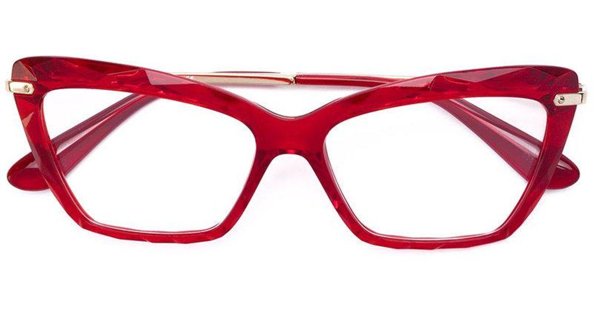 Gabbana À Coloris Monture Papillon De En Dolceamp; Lunettes Red Vue MVSpGqUz