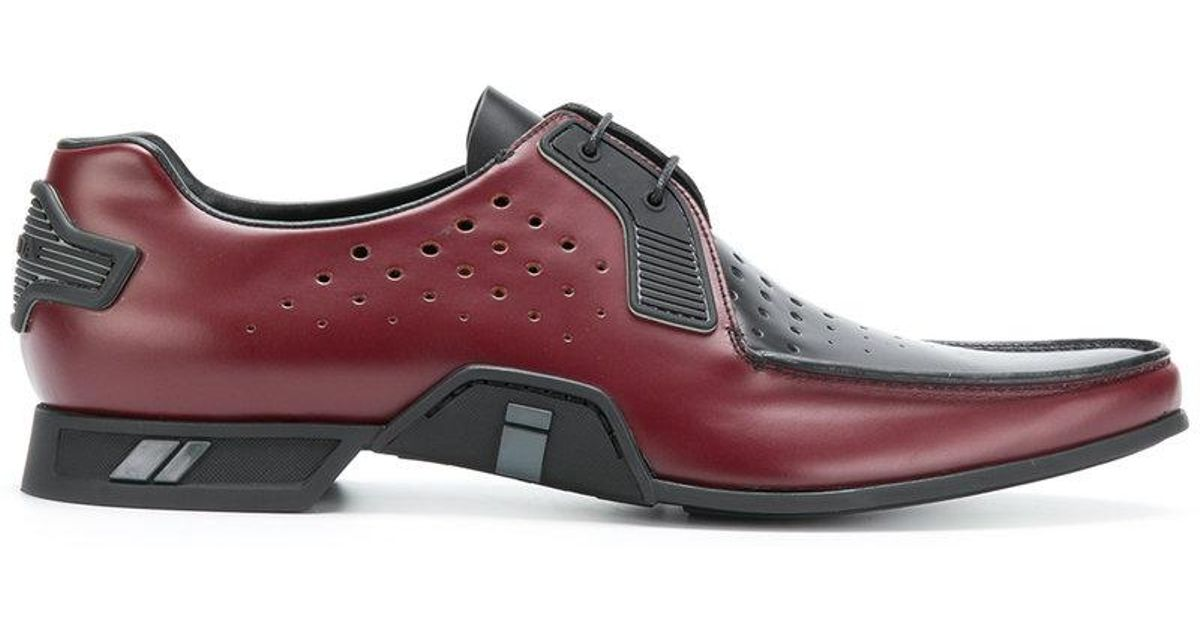 Brogue Rio calf leather black wing cap perforated Heinrich Dinkelacker