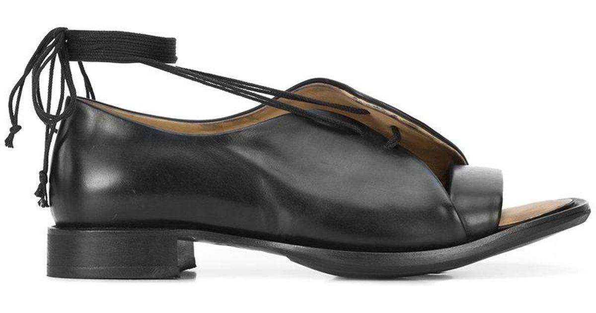 Shop Online open toe sandals - Black Yohji Yamamoto Recommend Sale Online Websites For Sale Outlet Marketable Discount Largest Supplier nyfMpeGdI