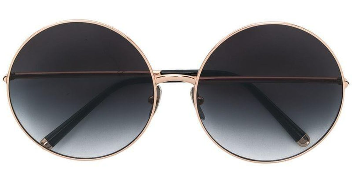 1bd283473a20 Lyst - Dolce   Gabbana Limited Edition Clip-on Round Sunglasses in Metallic