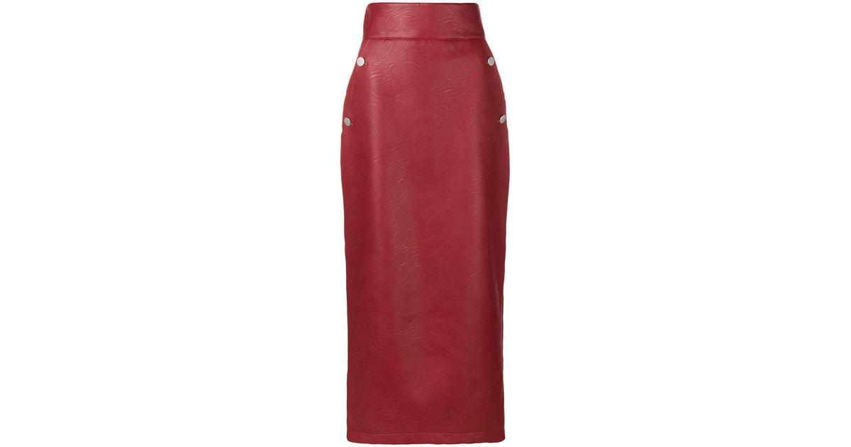 Battaglia Droite En Red Sara Coloris Longue Jupe Haute À Taille OPTwkXZiu