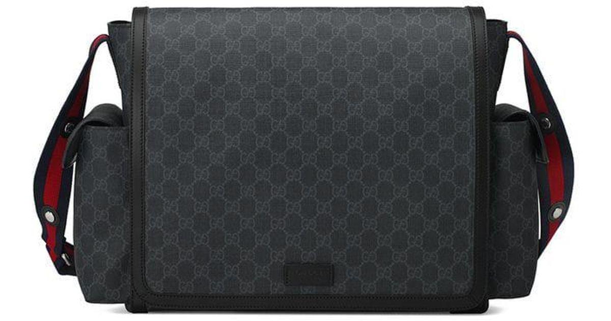 498b023599f4eb Lyst - Gucci Gg Supreme Diaper Bag in Black for Men