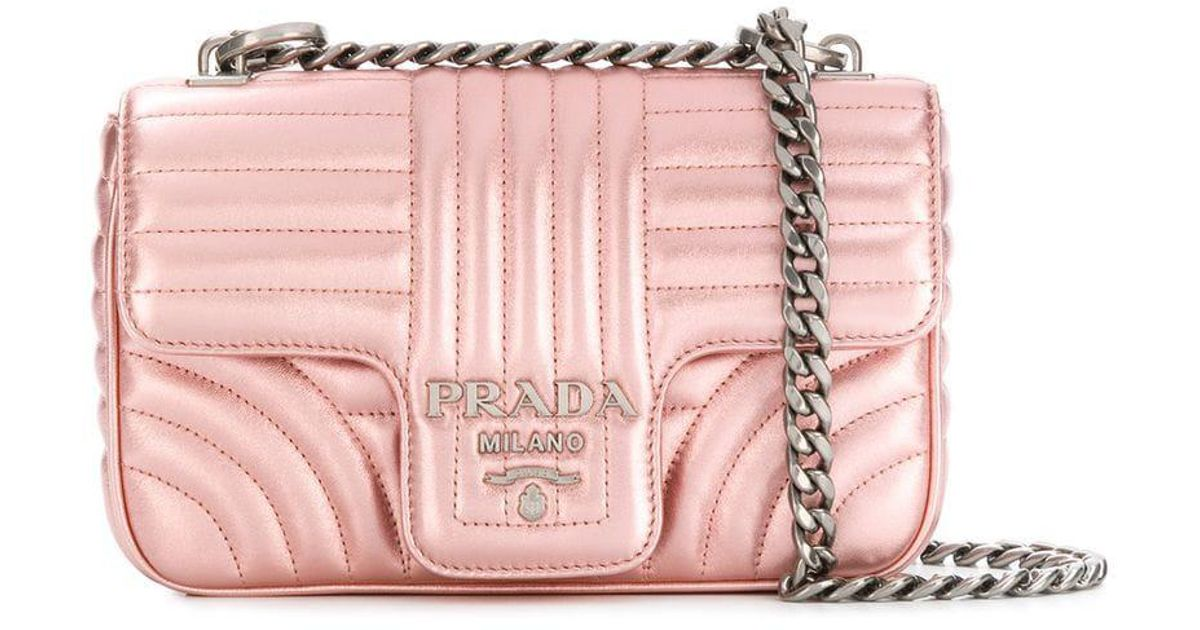 1321d1fd79a5 Prada Diagramme Shoulder Bag in Pink - Lyst