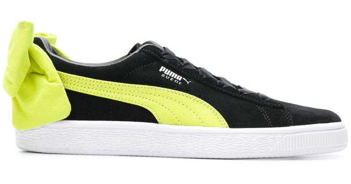 PUMA Suede Bow Back Sneakers in Black
